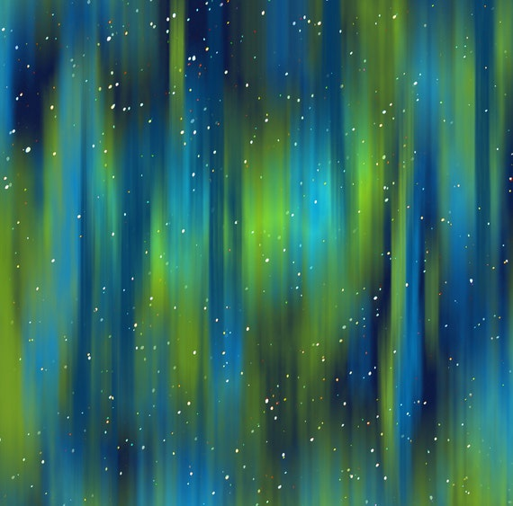 Northern Lights Fabric : Northern lights fabric in the midst of an aurora by
