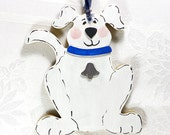 Hand Painted Wooden Dog- Personalized FREE, Available In A Variety Of Colors