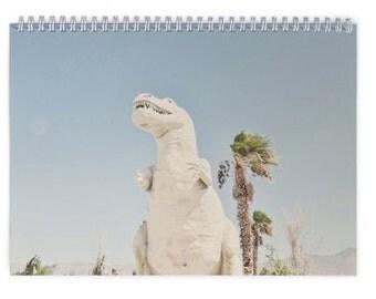 2017 Desert Desk Calendar, Palm Springs Calendar, Office Calendar, Large Calendar, 12 Month Calendar, Cactus, Nature, Dinosaur Calendar