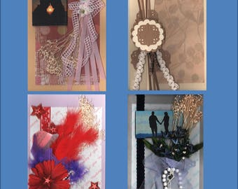 Embellished Thinking of You--Each Handmade Card is  Unique- Choose from 4 variations -Free Shipping in USA