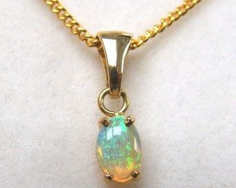 Opal Pendant, Gold and Crystal Opal - Item 2710161