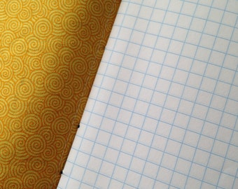 Pocket Knitbook - Golden Spiral - Crafter's Squared Notebook for Quilters, Dressmakers, Knitters and Crocheters
