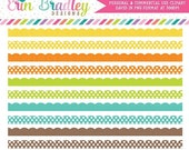 70% OFF SALE Clipart Borders, Instant Download Scalloped Borders Clip Art, Yellow Blue Orange Green Brown Clip Art Border Graphics