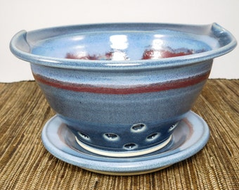 Berry Basket Clay - Berry Bowl - Berry Basket - Pottery Berry Bowl - Ceramic Colander - Berry Bowl Colander - Fruit Bowl - In Stock