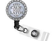 Keep Calm Lactation Nurse Consultant Retractable ID Badge Reel - Gifts for Nurses, Nurses Lanyard, Thank You Gift, Nurse Appreciation, Gifts