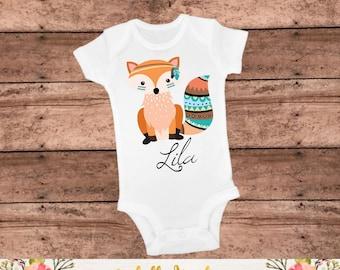 Personalized Girl Fox Tee - Fox Outfit - Fox Bodysuit - Fox Shirt