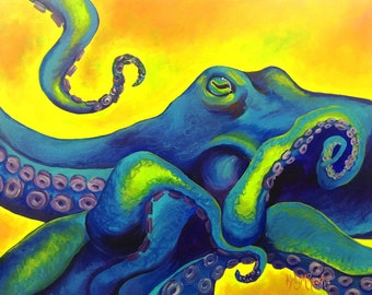 Neon Octopus - Limited Edition