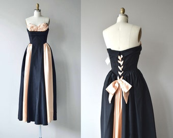 Ledoux sweetheart dress | vintage 1940s dress | strapless 40s party dress