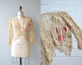 Rose Trilogy jacket   Edwardian tape lace jacket   antique 1910s lace jacket