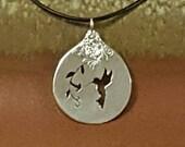 Handmade Sterling Silver Hummingbird Pendant Necklace