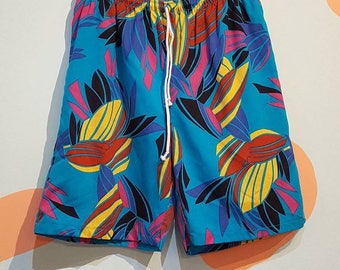 Tropical 80s board shorts for monjarlocanzo