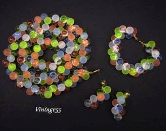 Monet Wisteria Set Necklace Bracelet Earrings