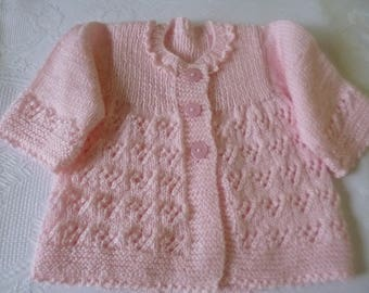 Knitted Baby Sweater, Newborn Sweater, Take Home, Coming Home, First Baby Sweater, Clothing Newborn, Baby Girl Sweater.