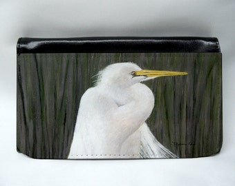 Egret Shore Bird Wallet