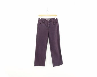 90s Cropped Jeans Vintage Purple Jeans 90s French Dressing Medium/High Waist 90s Cropped Jeans 90s Purple Pants Straight Leg Jeans Small
