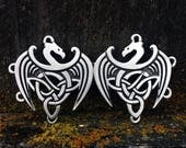 Celtic Dragon Pewter Cloak Clasp | Medieval Jewelry | Cloak Clasp | SCA | Celtic Jewelry | Handcrafted Jewelry | by Treasure Cast Pewter