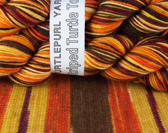 Serenity - Hand-dyed Self-striping sock yarn
