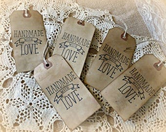 Handmade with LOVE Hang Tags - You choose Amounts!