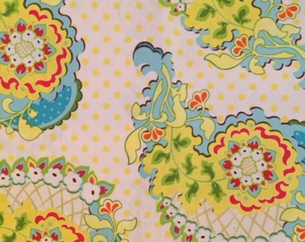 Heather Bailey Pop Garden Paisley Ivory fabric by the yard