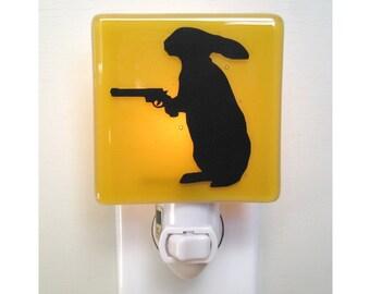 Funny Rabbit - Fused Glass Night Light