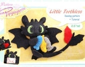 PDF Sewing pattern + instructions - Little Toothless - DIY