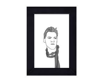 4 x 6 Framed Chris Jericho / WWE Portrait