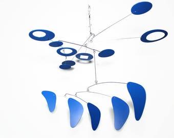 Mid Century Modern, Art Mobile, Kinetic Art, Circle Art Mobile, Calder Inspired, Housewarming Gift, Wedding Gift, Modern Gift, Mobile