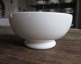 Antique French ironstone cafe au lait bowl