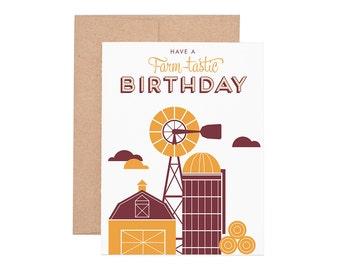 Boxed Cards - Farmtastic Birthday Letterpress Greeting Cards - Boxed Set | Birthday Cards | Happy Birthday