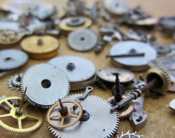 Vintage WATCH PARTS gears - Steampunk parts - K17 Listing is for all the watch parts seen in photos