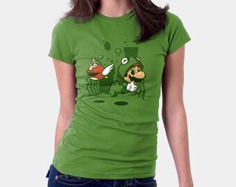 Muppet Suit - Mario Shirt | T-shirt for Women Men | Sesame Street Shirt | Video Games | Nerd | Geek | Pop Culture