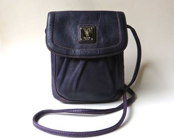 Small vintage Tignanello Deep Purple Leather Crossbody Bag