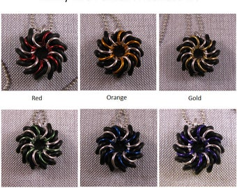 Sporty Rubber Whirly Bird Pendant Kit - Choose contrast color