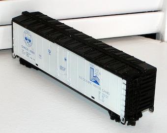 1980 Lake Placid XIII OLYMPIC Collectible HO 50' Boxcar Winter Games Bev-Bel Plug-Door