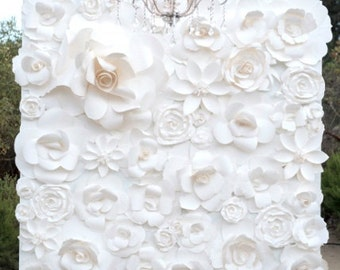 Paper Flower Wall 6'x4' - Beautiful Quality - Custom Sizes Available