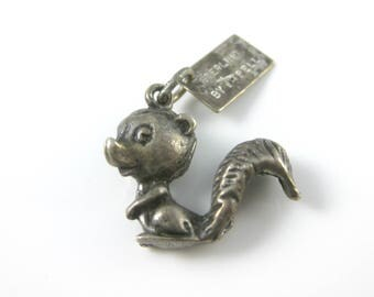 Vintage Sterling Silver Squirrel Charm by Bell Trading Post
