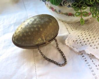 Antique Coin Purse Egg Shaped Chantelaine Grand Tour Souvenir France Late 1800's
