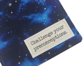 "Passport Cover Luggage Tag Set, Star Trek Vulcan Proverb ""Challenge your Preconceptions""  Passport Wallet, Passport Holder"