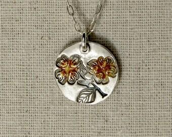 Dogwood Necklace with Enamel