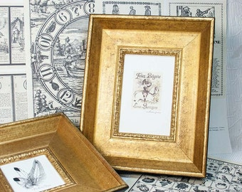 4x6 Old Gold Picture Photo Frame