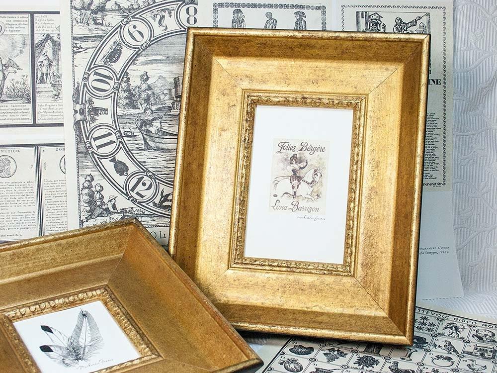 4x6 old gold picture photo frame. Black Bedroom Furniture Sets. Home Design Ideas