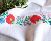 D 107: handloomed linen antique charming TOWEL napkin, LAUNDERED,리넨, decoration; tablerunner