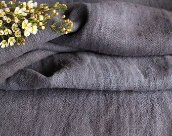 R 767 antique handloomed 리넨 lin CHARCOAL BLACK 2.73yards rural;  by 18.90inches ; cushion, pillow, french lin,upholstery fabric