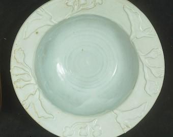 White Rabbit Bowl , Serving Bowl, Salad Bowl,  Pasta Bowl, Rabbit Pottery
