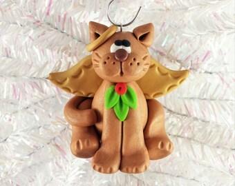 Angel Cat Christmas Ornament - Memorial Cat Angel - Kitty Christmas Ornament - Ornament for Cat Owner - Pet Ornament - Cat Owner Gift - 1211