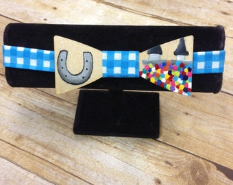 Hand Painted Wood Bow Tie , Derby Bow Tie, My Old Ky Home, neck wear, mens tie