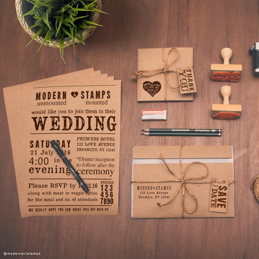 Custom Wedding Invitations: Custom Wedding Stamp Wedding Invitation Stamp Custom Stamp