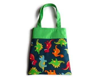 Dinosaur Gift Bag - Goodie Bag - Mini Tote
