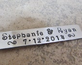 hand stamped long tag