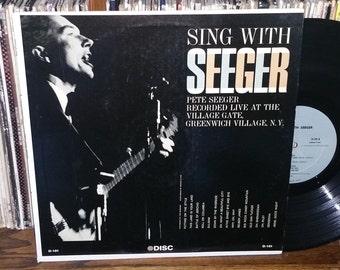 Pete Seeger Sing With Seeger Vintage Vinyl Record